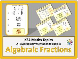 Algebraic Fractions for KS4