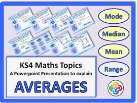 Averages and Range for KS4