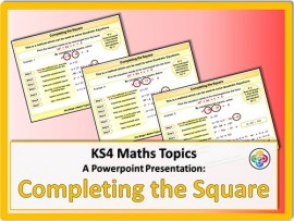 Completing the Square for KS4