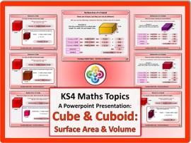 Cubes & Cuboids: Surface Area & Volume for KS4
