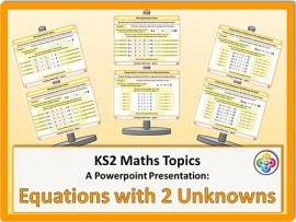 Equations with Two Unknowns for KS2