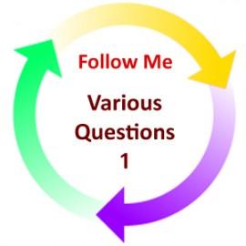 Various Questions 1:  Follow Me PDF
