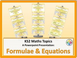 Formulae and Equations for KS2