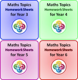Full Set: Maths Topics Homework Sheets PDF Booklets for Years 3 4 5 and 6