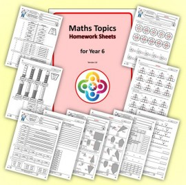 Maths Topics Homework Sheets for Year 6 PDF Booklet