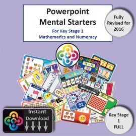 Full KS1 Powerpoint Mental Starters Instant Pay and Download