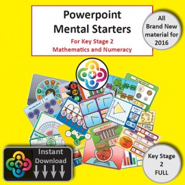 NEW Full KS2 Powerpoint Mental Starters Instant Pay and Download *WELSH*