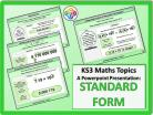 Standard Form for KS3