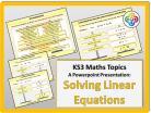 Solving Linear Equations for KS3