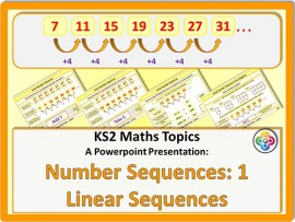 Number Sequences 1: Linear Sequences for KS2