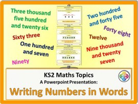 Writing Numbers in Words for KS2