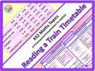 Reading a Train Timetable for KS2