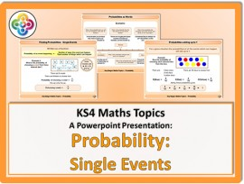 Probability - Single Events for KS4