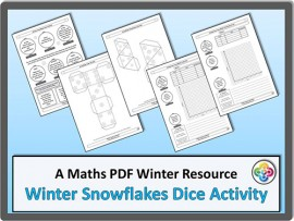 Winter Snowflake:  Nets, Tally Charts, Bar Charts