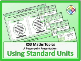 Using Standard Units for KS3