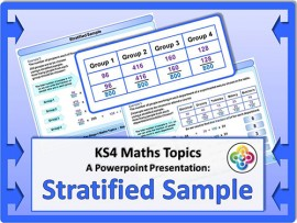 Stratified Sample for KS4