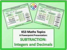 Subtraction: Integers and Decimals for KS3