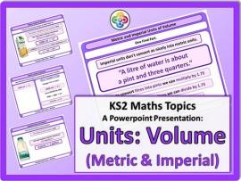 Units: Volume (Metric & Imperial) for KS2