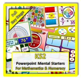 FULL KS2 Powerpoint Mental Starters *WELSH*