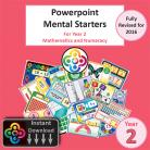 Year 2 Powerpoint Mental Starters Instant Pay and Download  *Revised*