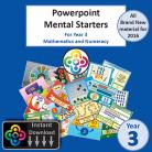 Year 3 Powerpoint Mental Starters Instant Pay and Download
