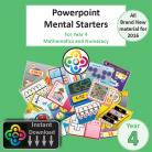 Year 4 Powerpoint Mental Starters Instant Pay and Download
