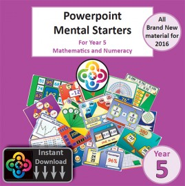 Blwyddyn 5 Powerpoint Mental Starters Instant Pay and Download *WELSH*
