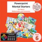 NEW Year 6 Powerpoint Mental Starters Instant Pay and Download